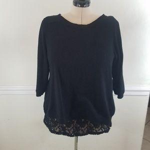 Torrid Black Lace Sweater